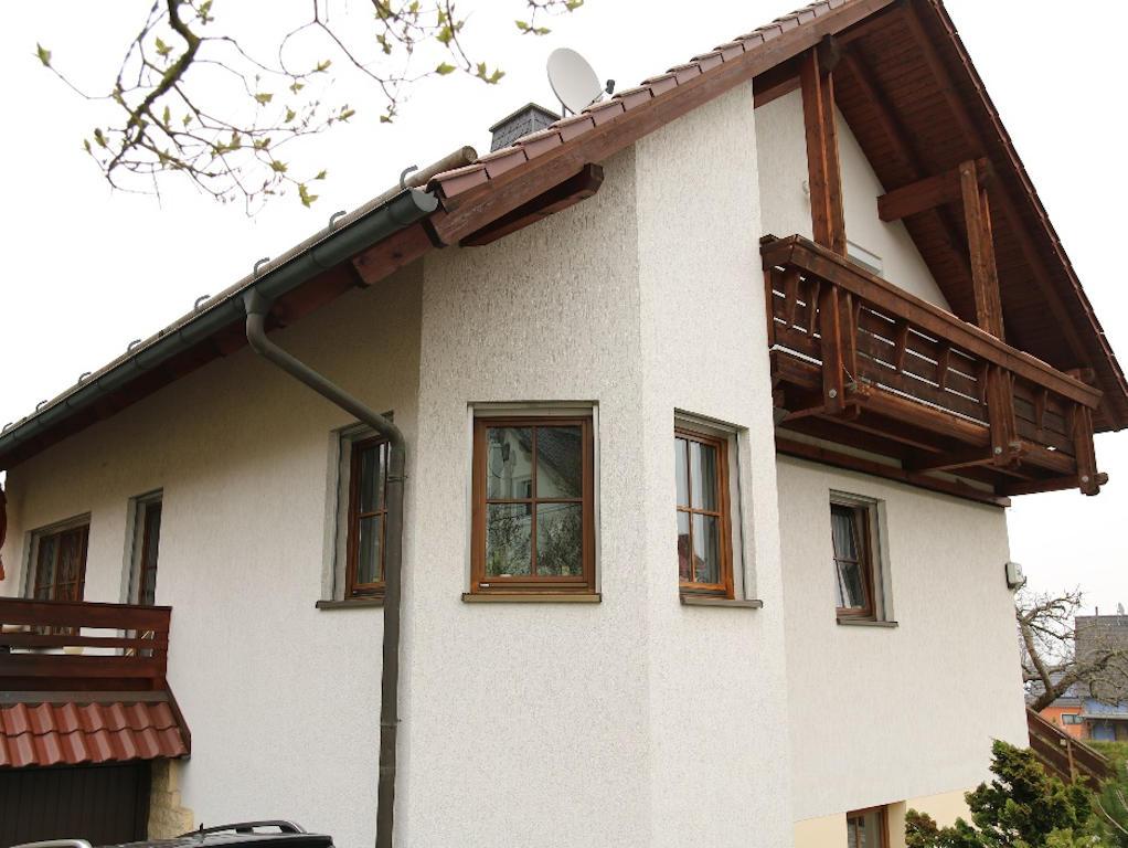 Blick auf ein Einfamilienhaus